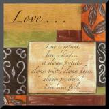 Palavras para nortear a vida: Amor, em inglês Impressão montada por Debbie DeWitt