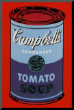 Campbell&#39;s Soup Can, 1965 (Blue and Purple) Mounted Print by Andy Warhol