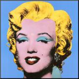 Marylin sur fond bleu, 1964 Affiche montée par Andy Warhol