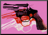 Gun, c.1981-82 Mounted Print by Andy Warhol