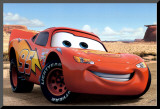 Lightning McQueen Mounted Print