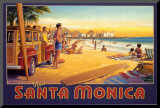 Visit Santa Monica Mounted Print by Kerne Erickson
