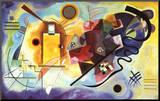 Geel, rood en blauw, ca.1925 Kunstdruk geperst op hout van Wassily Kandinsky