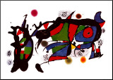 Obra de Joan Miro Mounted Print by Joan Miró