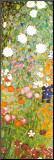 Flower Garden (detail) Mounted Print by Gustav Klimt