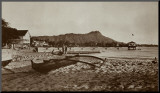 In Front of Outrigger Canoe Club, Waikiki Beach, Hawaii, 1917 Mounted Print