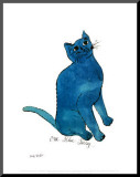 One Blue Pussy, c.1954 Mounted Print by Andy Warhol