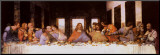 Das letzte Abendmahl, ca. 1498 Druck aufgezogen auf Holzplatte von  Leonardo da Vinci