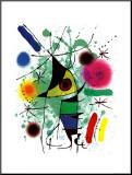Pez cantando Lámina montada en tabla por Joan Miró