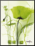 Coquelicot Vert II Mounted Print by  Marthe