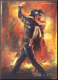 Tango argentyńskie (Tango Argentino) Umocowany wydruk autor Pedro Alvarez