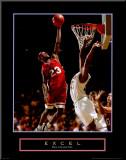 Überragen: Basketball Druck aufgezogen auf Holzplatte