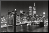 New York, New York, Brooklyn Bridge Mounted Print by Henri Silberman