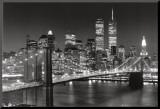 Puente de Brooklyn, Nueva York Lámina montada en tabla por Henri Silberman