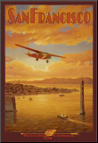 Western Air Express, San Francisco, California Mounted Print by Kerne Erickson