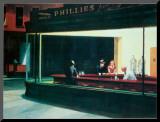 Nighthawks, Noctambules ou Les oiseaux de nuit, 1942 Affiche montée par Edward Hopper