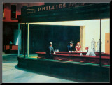 Notívagos, cerca de 1942 Impressão montada por Edward Hopper