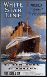 White Star Line Mounted Print