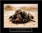 Bravery Mounted Print