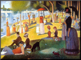 Sunday Afternoon on the Island of la Grande Jatte, c.1886 Mounted Print by Georges Seurat