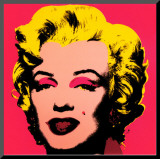 Marilyn Monroe, 1967 (hot pink) Mounted Print by Andy Warhol
