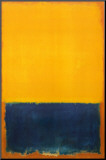 Yellow and Blue Mounted Print by Mark Rothko