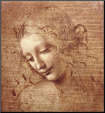 Female Head (La Scapigliata), c.1508 Mounted Print by  Leonardo da Vinci