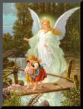 Heilige Schutzengel Mounted Print