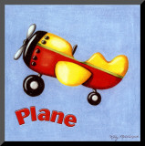 Plane Mounted Print by Kathy Middlebrook
