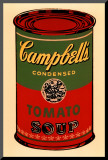 Campbell's Soup Can, 1965 (Green and Red) Mounted Print by Andy Warhol