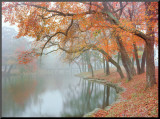 Autumn Reflections Mounted Print by Mike Jones