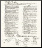 Constitution Mounted Print