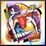Slå an tangenterna|Stroking the Keys Print på trä av Gockel, Alfred