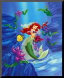 Ariel, Dreams Under the Sea Mounted Print
