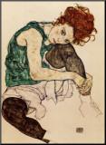 A Esposa do Artista Impressão montada por Egon Schiele