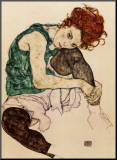 The Artist's Wife Mounted Print by Egon Schiele