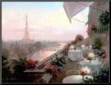 Dinner on the Terrace Mounted Print by Christa Kieffer