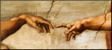The Creation of Adam, c.1510 (detail) Mounted Print by  Michelangelo Buonarroti