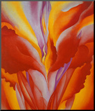 Red Canna Mounted Print by Georgia O&#39;Keeffe
