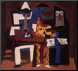 Three Musicians, c.1921 Mounted Print by Pablo Picasso