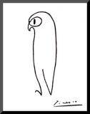 Owl Mounted Print by Pablo Picasso
