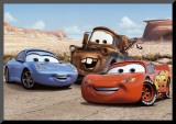 The Cast of Cars Impressão montada