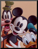 Mickey, Donald, and Goofy: Friends Forever Mounted Print
