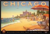 Chicago och Southern Air Monterat tryck av Kerne Erickson