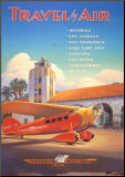Western Air Express Mounted Print by Kerne Erickson