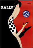 Bally Mounted Print by Bernard Villemot
