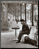 Jacques Prevert Paris, 1955 Mounted Print by Robert Doisneau