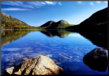 Dedication: Jordan Pond Mounted Print by Dermot Conlan
