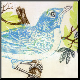 Bluebird Mounted Print by Swan Papel