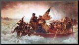 Washington Crossing the Delaware, ca. 1851 Kunst op hout van Emanuel Leutze